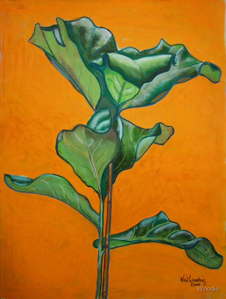 Rubber Plant art class by Woodie