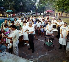 1950's Barbeque Party at the Winchelsea Resort, Palenville, NY by aladdincolor