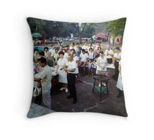 1950's Barbeque Party at the Winchelsea Resort, Palenville, NY Throw Pillow