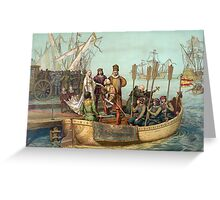 First Voyage of Christopher Columbus Greeting Card