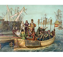 First Voyage of Christopher Columbus Photographic Print