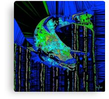 Caribbean Blue Parrot Fish Mosaic Canvas Print