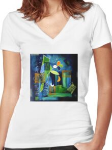 A Place To Grow Women's Fitted V-Neck T-Shirt