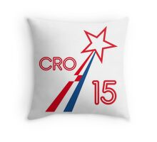 CROATIA STAR 2015 Throw Pillow