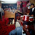 Band playing in the Red Carpet Lounge of the Pitts Motor Hotel in the 1950's by aladdincolor