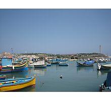 Maltese Luzzu Photographic Print