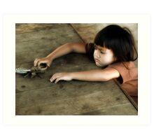 Borneo Girl Art Print
