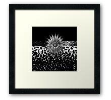 Animal Print Cheetah and Silver Medallion Framed Print