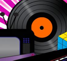 80s Retro Sticker
