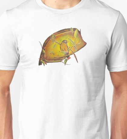 Bird on Branch with Berries Unisex T-Shirt