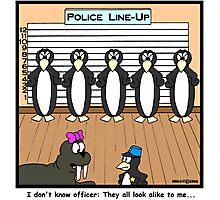 Police Line-Up Photographic Print