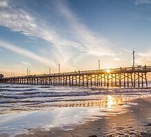 Newport Beach Pier 1 by Nadim Baki