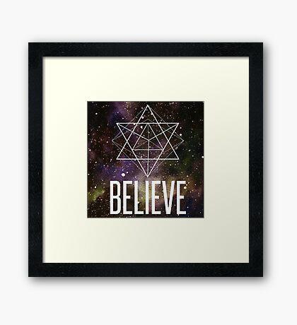Believe In A Higher Power Framed Print