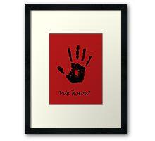 The Black Hand Framed Print