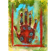 Abstract Chakra Hand Photographic Print
