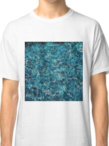 psychedelic geometric drawing abstract in blue white and black Classic T-Shirt