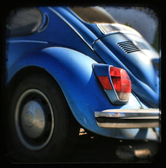 Punch Buggy Blue!! No Punch Backs!! - Fine Art Viewfinder Photograph by HighlandGhillie