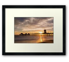 Newport Beach Pier 5 Framed Print