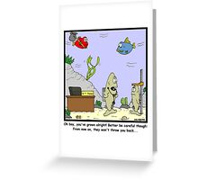 Thrown Back Greeting Card