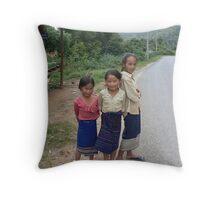 Laos children Throw Pillow