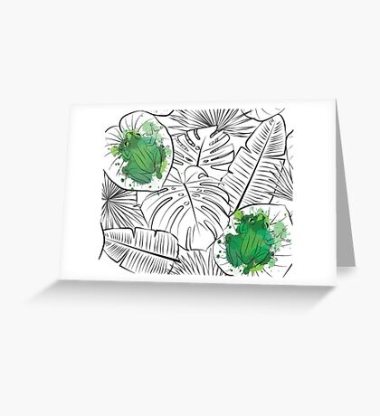 Rainforest frog Greeting Card
