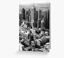 A birdseye view over Melbourne... Greeting Card