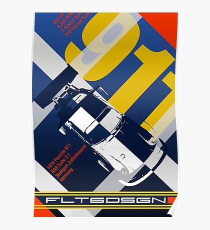 flt6dsgn 1970's inspired 911 Turbo Poster Poster