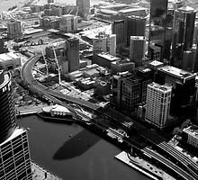 An aerial view of Melbourne... by Paige