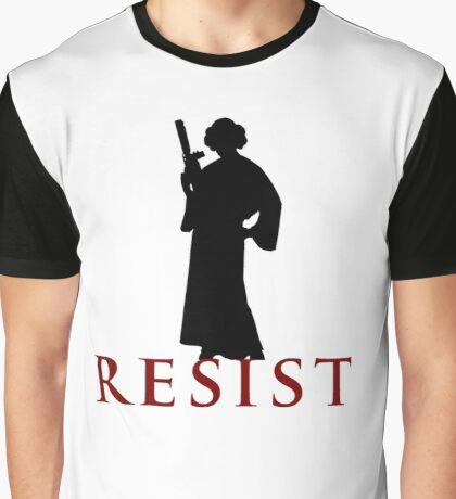Star Wars Leia: Resist Color Graphic T-Shirt