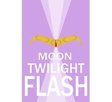 Moon Twilight Flash Photographic Print
