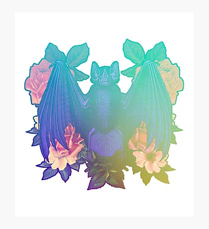 Bats and flowers Photographic Print