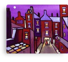 Houses galore (from my original painting) Canvas Print