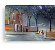 A winter scene (from my original painting) Canvas Print
