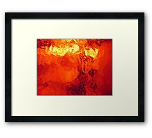 Abstract Heat Framed Print