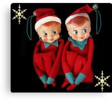 HANG US ON YOUR CHRISTMAS TREE..DONE FOR CHALLENGE Canvas Print
