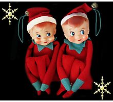 HANG US ON YOUR CHRISTMAS TREE..DONE FOR CHALLENGE Photographic Print