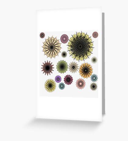Playful Flower Symmetry Greeting Card