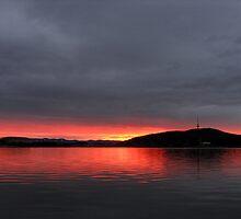 Lake Burley Griffin Sunset by Christopher Meder