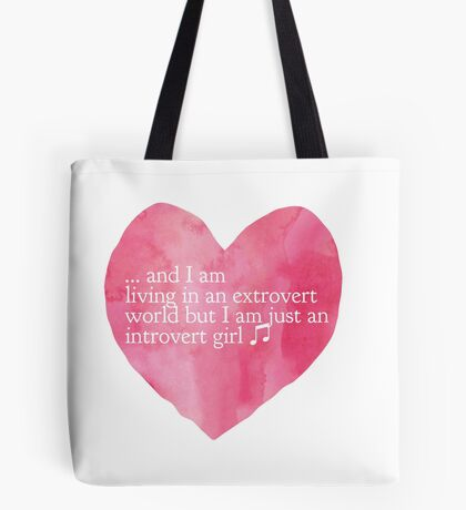 Introvert Girl Tote Bag