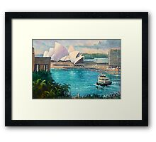 Opera House, Sydney Harbour Framed Print