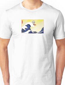 Surfing hokusai's famous wave Unisex T-Shirt