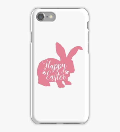 Happy Easter - Pink Easter Bunny Design iPhone Case/Skin