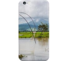 Square fishing in Laos iPhone Case/Skin