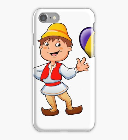Romanian in typical  clothing  and the heart iPhone Case/Skin