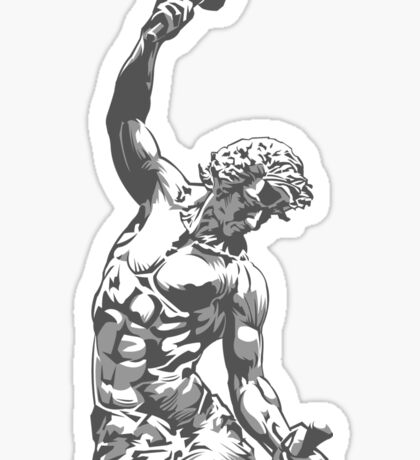 Self-Made Men statue Sticker
