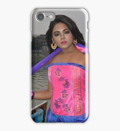 Sexy Woman in Pink Top iPhone Case/Skin