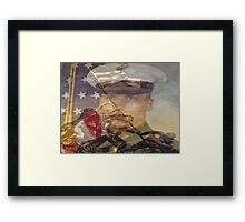 the pride of the marines and me Framed Print
