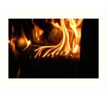 burning with Art Print