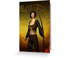 Sagittarius Zodiac Fantasy Greeting Card