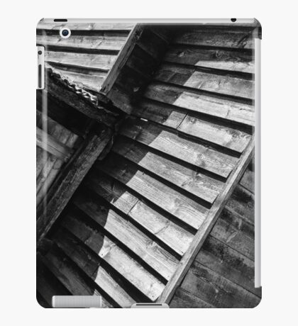 Wooden Shed Abstract Monochrome iPad Case/Skin